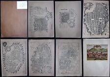 1965 ATLANTE DELLA STORIA DI TORINO 6 mappe Torino + 1 veduta Valentino ristampa