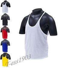 Plain Stringer Gym Vest ✔S-XL Racerback Tank Top Bodybuilding Golds Zyzz Arnold