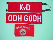 DDR bracciali-Set, 4 pezzi mai usato, KVD, odh, godh, VP-aiutante