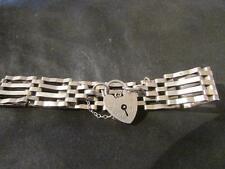 Lovely Quality Vintage Solid Silver Engraved Gatelink Bracelet, Lon,1977