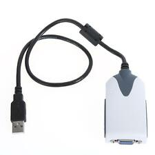 USB 2.0 Hi-Speed to VGA Display Adapter Converter Extra Monitor Multi Display