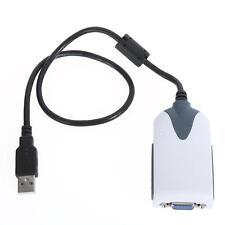 USB 2.0 Hi-Speed to VGA Display Adapter Converter Extra Monitor Multi Display