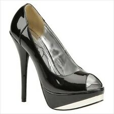 Baby Phat's Fay Black Patent Leather Platform Pumps Size 9