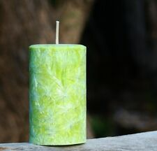 40hr GREEN GRANNY SMITH APPLES Triple Scented NATURAL Pillar Candle FRUITY GIFTS