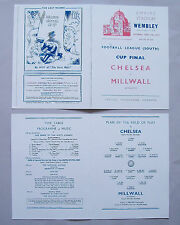 1945 F.A. League cup final (Southern section) programme Chelsea v Millwall Mint.