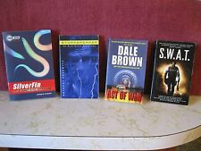 LOT OF 4 PAPERBACK BOOKS - SUSPENSE - S.W.A.T., ACT OF WAR, STORMBREAKER, SILVER