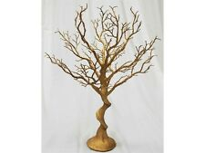"2 pcs 30"" tall GOLD MANZANITA TREE GLITTERED Wedding CENTERPIECES Decorations"