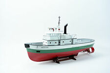 Shelly Foss Tugboat Vessel Wooden Boat Model Ready to Display - RC Ready 37""