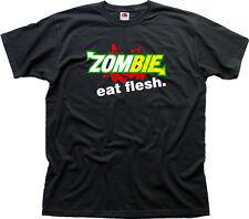 Zombie Eat Flesh SUBWAY Funny black cotton t-shirt 01538