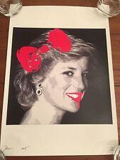 Princess Di print by DEATH NYC Ltd Ed Graffiti Street Art Diana like Banksy Obey