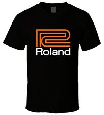 "Black Men T Shirt "" Roland Piano Organs 2 "" Size S M L XL"