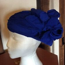 Stunning Cobalt Royal Blue Vintage Style Wedding Hat BNWT Unusual REDUCED