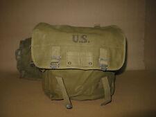 Original WWII US AIRBORNE PARATROOPER M1936 MUSETTE BAG USMC DDAY added MFGStamp