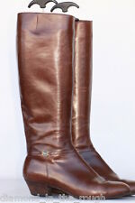 Gorgeous Salvatore Ferragamo Made in Italy leather riding boots 8 B MINT!