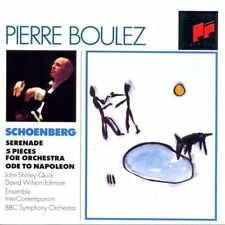 Pierre Boulez-Edition: Schönberg Serenade 5 Pieces for Orch John Shirley-Quirk
