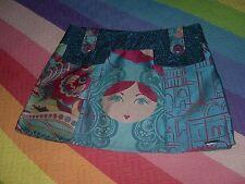 Falda minifalda Amarillolimon estampado desigual en telas cortes detras delant M