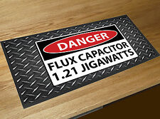 Back to the Future Danger Flux Capacitor 1.21 Jigawatts bar runner