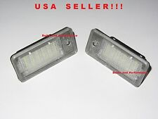 LED License Plate Lights For Audi A6 A8 Q7 RS6 A4 S4 RS4 (B6, B7) A3 S3