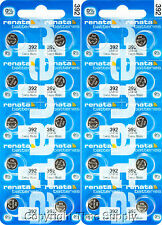 20 PC Renata 392 Watch Batteries Swiss SR41W FREE SHIP 0% MERCURY
