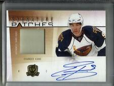 Evander Kane 09/10 The Cup Autograph Game Used Jersey Patch #72/75