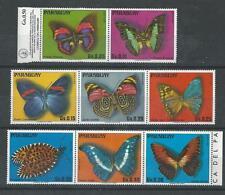 Paraguay - 1976 papillons-onu-mounted mint set