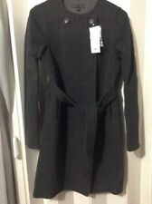 NWT Uniqlo Women Double face Long Coat Size S Wool blend Dark Gray