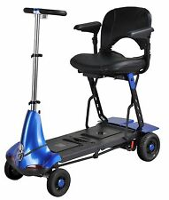BLUE Solax Mobility Mobie Compact Folding  Travel Scooter Light Weight Cart
