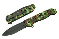 CRKT Style ARMY Camo Spring Assisted 8 Inch Folding Knife FAST SHIPPING