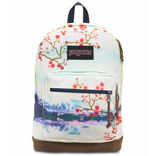 "Jansport ""Right Pack Expressions"" Backpack (Multi Cherry Blossom) Suede Book Bag"