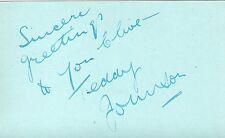TEDDY JOHNSON - Signed Album Page - MUSIC/RADIO/TV