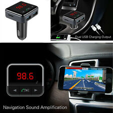 Wireless Bluetooth Car Kit MP3 Player Dual USB Charger FM Transmitter Modulator