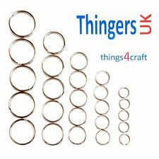 Mixed Size Key Rings - 5 of Each Size - 15mm, 20mm, 25mm,30mm,35mm