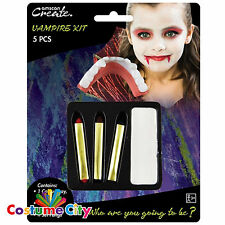 VAMPIRO Halloween Viso Pittura Kit Fancy Dress Party Costume Make Up