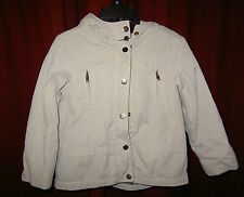 ZARA Beige Girls Jacket 3 4 years Very Good Condition Hooded fully lined