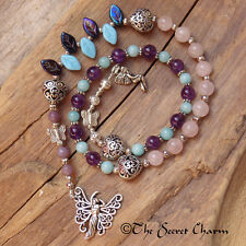 Goddess Aine Witches Ladder, Pagan Prayer Beads, Wiccan Spell Casting