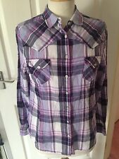 Crew Clothing Ladies Check Long Sleeve Shirt Size 10. Great Condition.