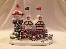 Hawthorne Village Rudolph's Christmas Town  Peppermint Mine & Candy Cane CoA MIB