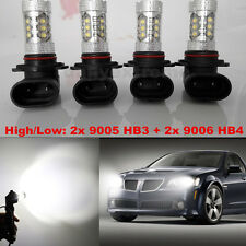 4x White 9005 HB3 & 9006 HB4 80W CREE LED Bulb High/Low Beam Headlight Fog Light