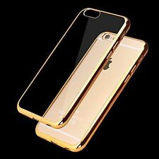 APPLE iPhone 5/5s Luxury Ultra Thin TPU Gold Plated Back Case Cover