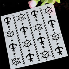 DIY Scrapbooking Ship Tuo Stencil for art craft spray cake and Home decor