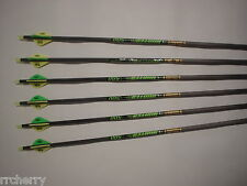 6 Gold Tip XT Hunter 500 3555 Carbon Arrows w/ Bohning Blazer Vanes! WILL CUT!