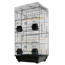 Large Tall Canary Parakeet Cockatiel LoveBird Finch Bird Cage 1701H Black-694