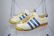 Vintage 80s Made In West Germany Adidas Rom Leather Trainers Size UK 6