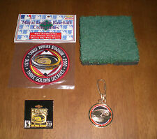 STEELERS THREE RIVERS STADIUM TURF w/COA - PATCH - FINAL SEASON PIN & KEY CHAIN
