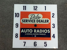 "*NEW* 15"" DELCO TUBE RADIO CHEVY GM GMC GLASS replacement clock FACE FOR PAM"