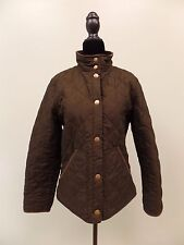CHAPS JACKET COAT QUILTED LINED DARK GREEN SNAP UP CORDUROY COLLAR WOMEN'S SZ M