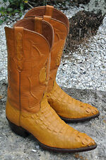 Exotic Black Jack Alligator Men's Handmade Cowboy Boots Made in USA Gator Head