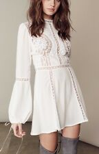 "***NWT FOR LOVE & LEMONS ""PENELOPE"" LACE MINI DRESS IN IVORY SIZE SMALL S***"