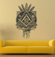 Wall Art Vinyl Sticker Room Decal Mural Decor Annuity Eye Illuminati Art bo2367
