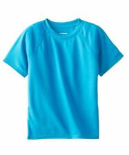 Kanu Surf Little Boys' Short-Sleeve Rashguard Swim Shirt Size 5 Aqua NWT SPF 50+